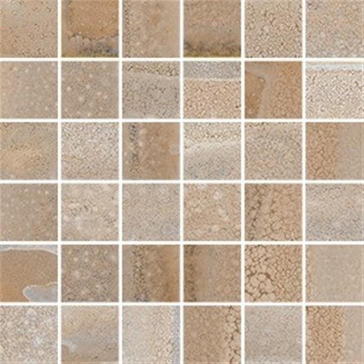 Reactive Mosaik (5/5) 30x30cm titanrot