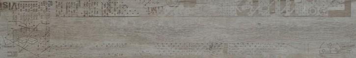 Rovere Dekor 20x120cm grau glzd. rekt. Abr.4