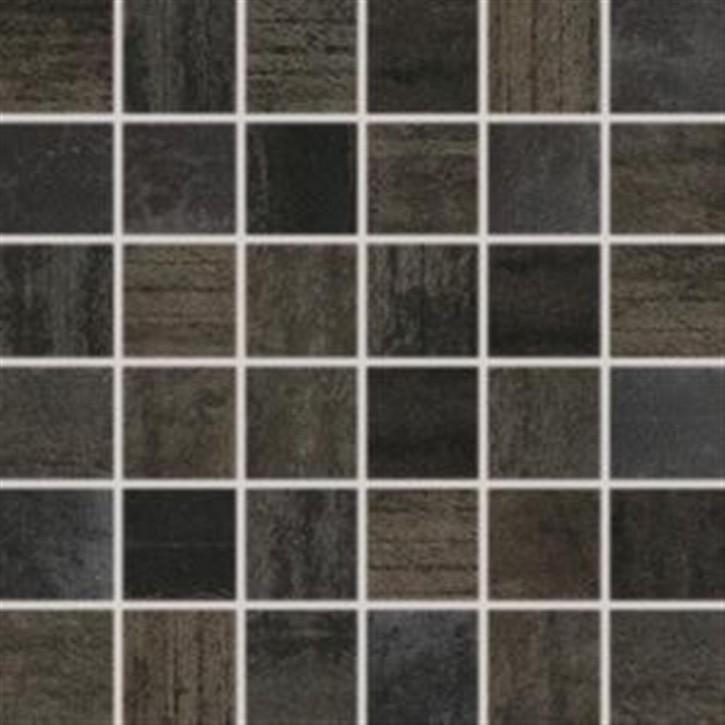 Rush Mosaik 30x30 cm (5,0/5,0) schwarz rekt.