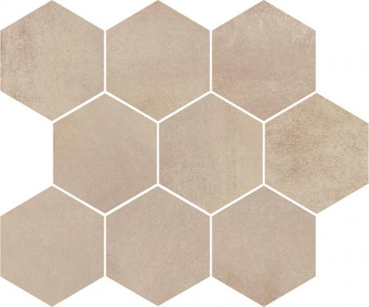 Sandy Island Mosaik 28x33,7cm creme matt