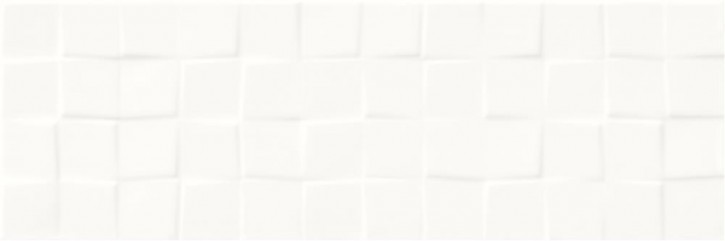 Simple Art Wand 20x60cm weiß glzd. Structure Cubes