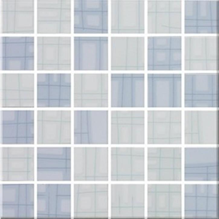 Sketch Mosaik 30x30cm (5x5) mint-himmelblau