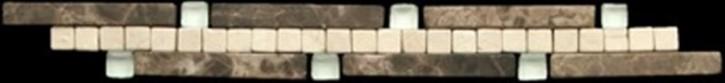 SKP Thimos-505  3x24,8 marron emperador, crema marfil, vetro