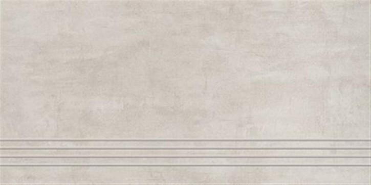 Soho Treppenfliese 30x60cm grau ungl. R9 rekt.