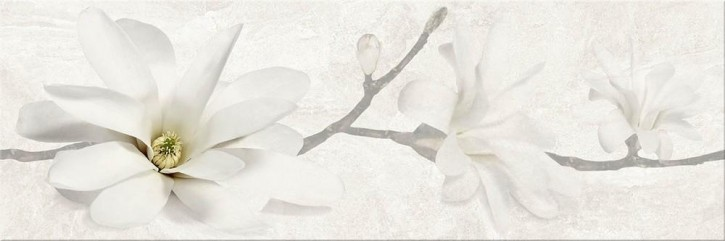 Stone Flowers Dekor 25x75cm beige flower