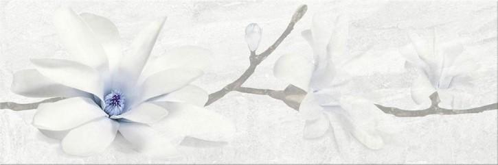 Stone Flowers Dekor 25x75cm grau flower