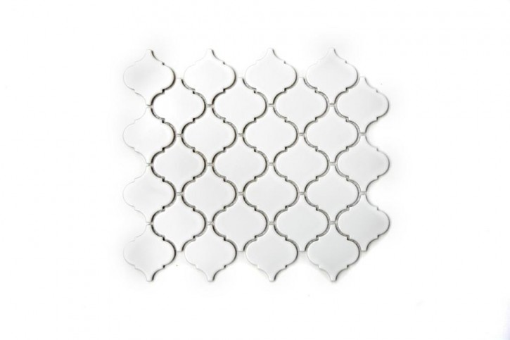 Style Florentiner uni weiß matt 25x29cm / 52x52x6