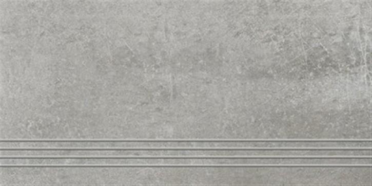 Talk Treppenfliese 30x60cm grau ungl. R10 rekt.