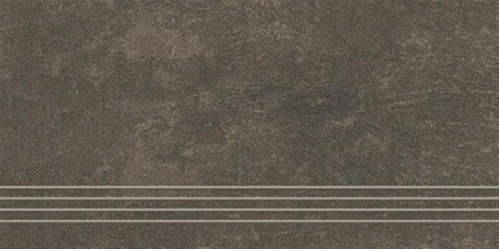 Talk Treppenfliese 30x60cm mud ungl. R10 rekt.