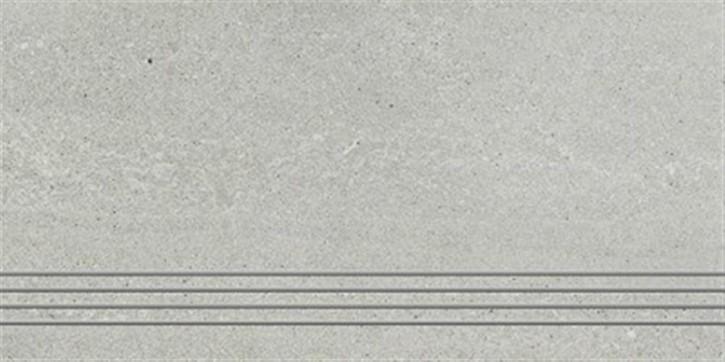 Top Stone Treppenfliese 30x60cm grau ungl. R10 rekt.