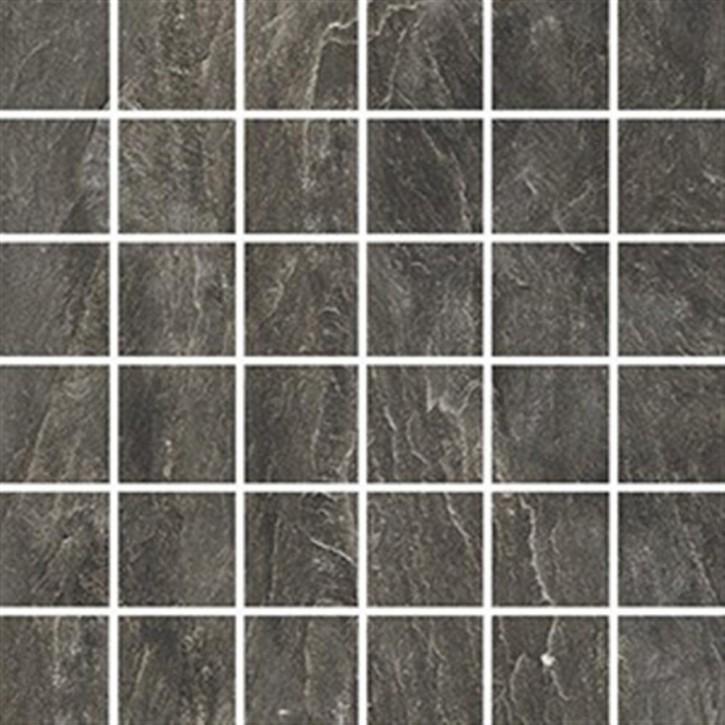Torstein Mosaik (5/5) 30x30cm grafit ungl. R10B rekt.