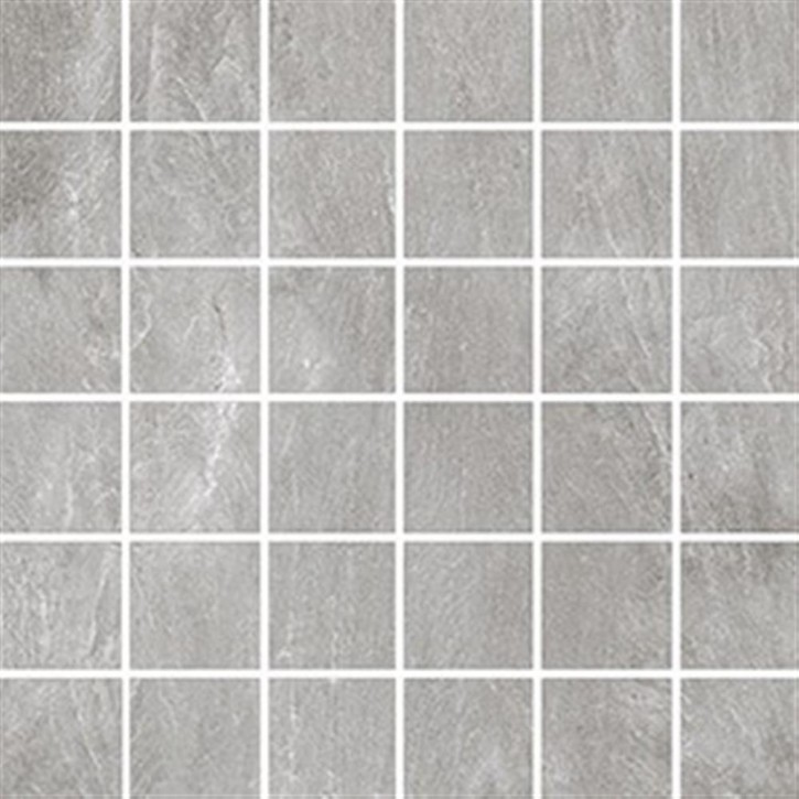Torstein Mosaik (5/5) 30x30cm grau ungl. R10B rekt.