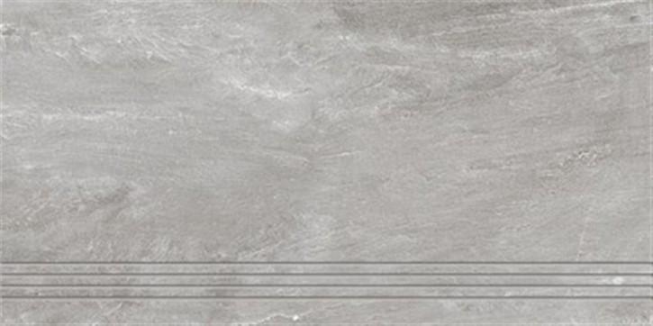 Torstein Treppenfliese 30x60cm grau ungl. R10 rekt.