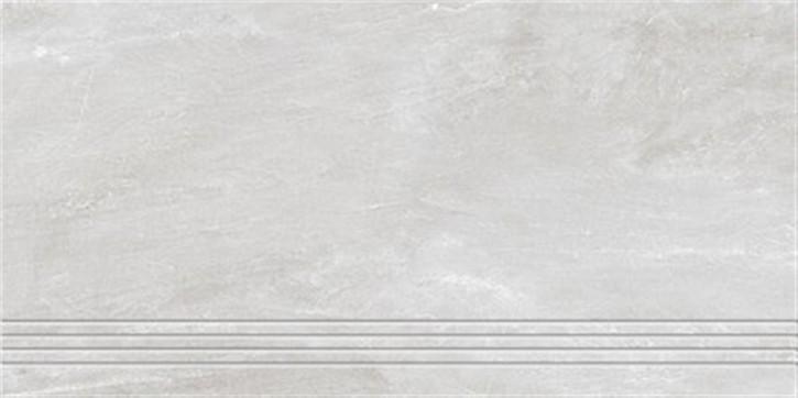 Torstein Treppenfliese 30x60cm weiß ungl. R10 rekt.