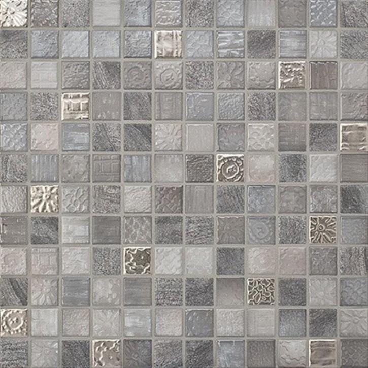 Traces lavagrau-mix Mosaik 2x2x0,65cm