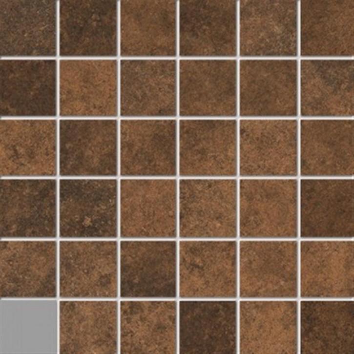 Unikat Mosaik(5/5) 30x30cm cotto ungl. R10B