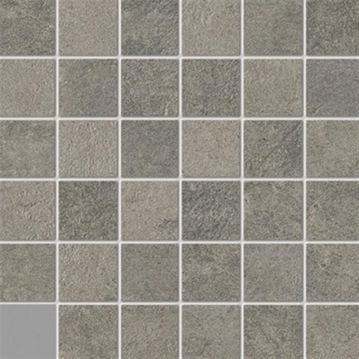 Unikat Mosaik(5/5) 30x30cm grau ungl. R10B