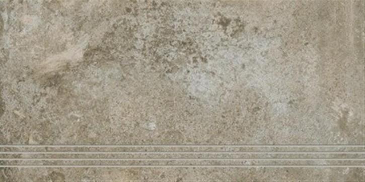 Unikat Treppenfliese 37,5x70cm beige ungl. R10 rekt.