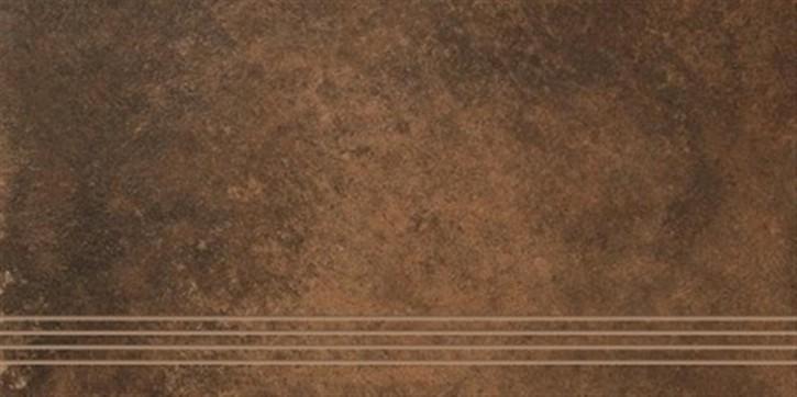 Unikat Treppenfliese 37,5x70cm cotto ungl. R10 rekt.