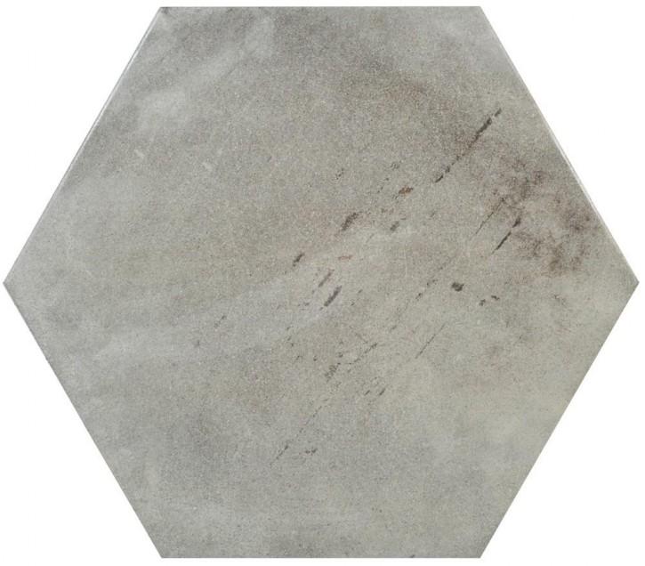 Varese Hexagon 52x60cm grigio matt rekt. Abr.4