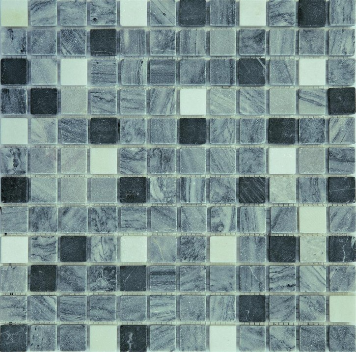 Vital 1 Mosaik 2,3x2,3 30,5x30,5 schwarz/grau mix