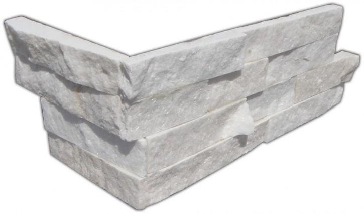 Wandverblende (Ecke, 2-teilig) 15x20/40cm weiß