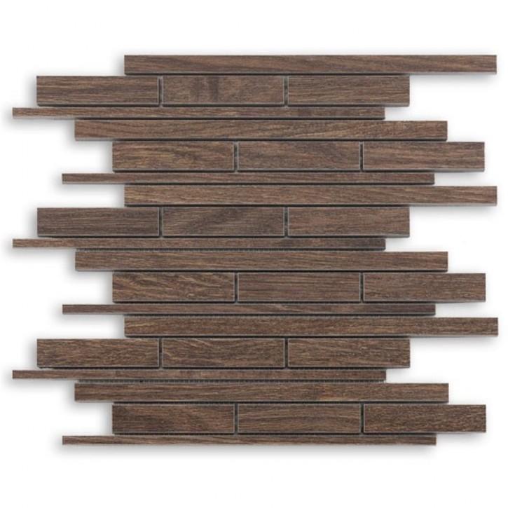 Wood Mosaik 29,8x31cm eiche braun
