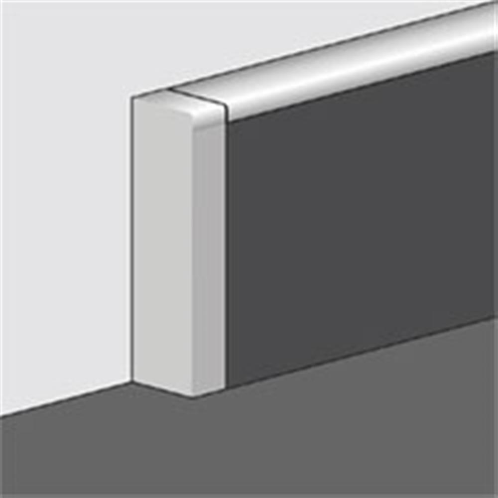 Endkappe rechts f/ür PVC Sockelleisten Fu/ßleiste EKR.8649 Kabelkanal