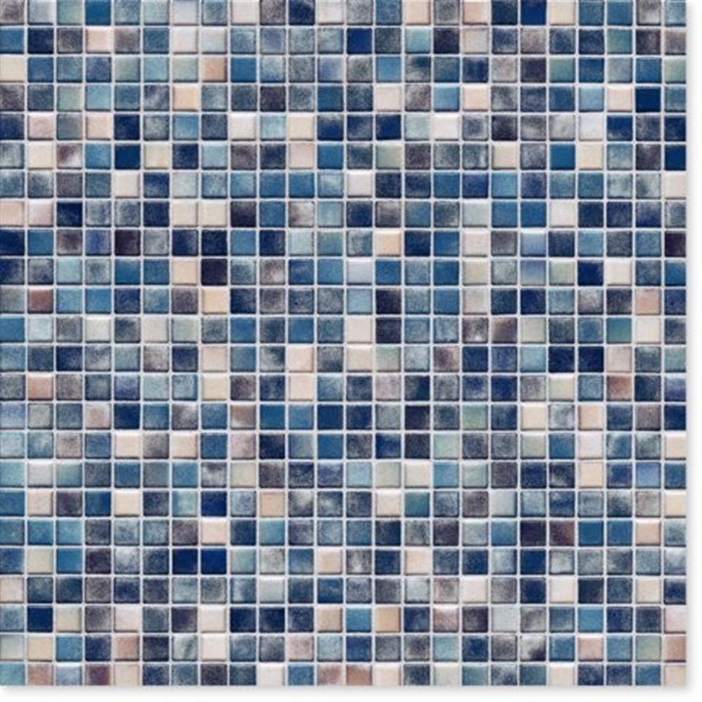 Wand Graublau: Kauri Graublau-mix Glzd. Mosaik 1x1x0,65cm-8703H-44