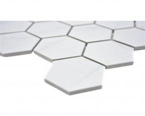 Carra Hexagon Carrara matt 30x30cm / 51x59x6