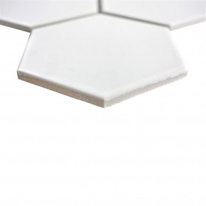 Hexa Hexagon uni weiß matt 26x30cm / 95x110x6,5